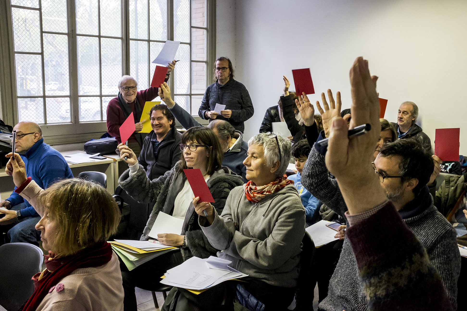 VIII Congrés SPC 2018 - Votacions 2 - Foto: Joan Puig - Sindicat de Periodistes de Catalunya - Sindicat de Professionals de la Comunicació