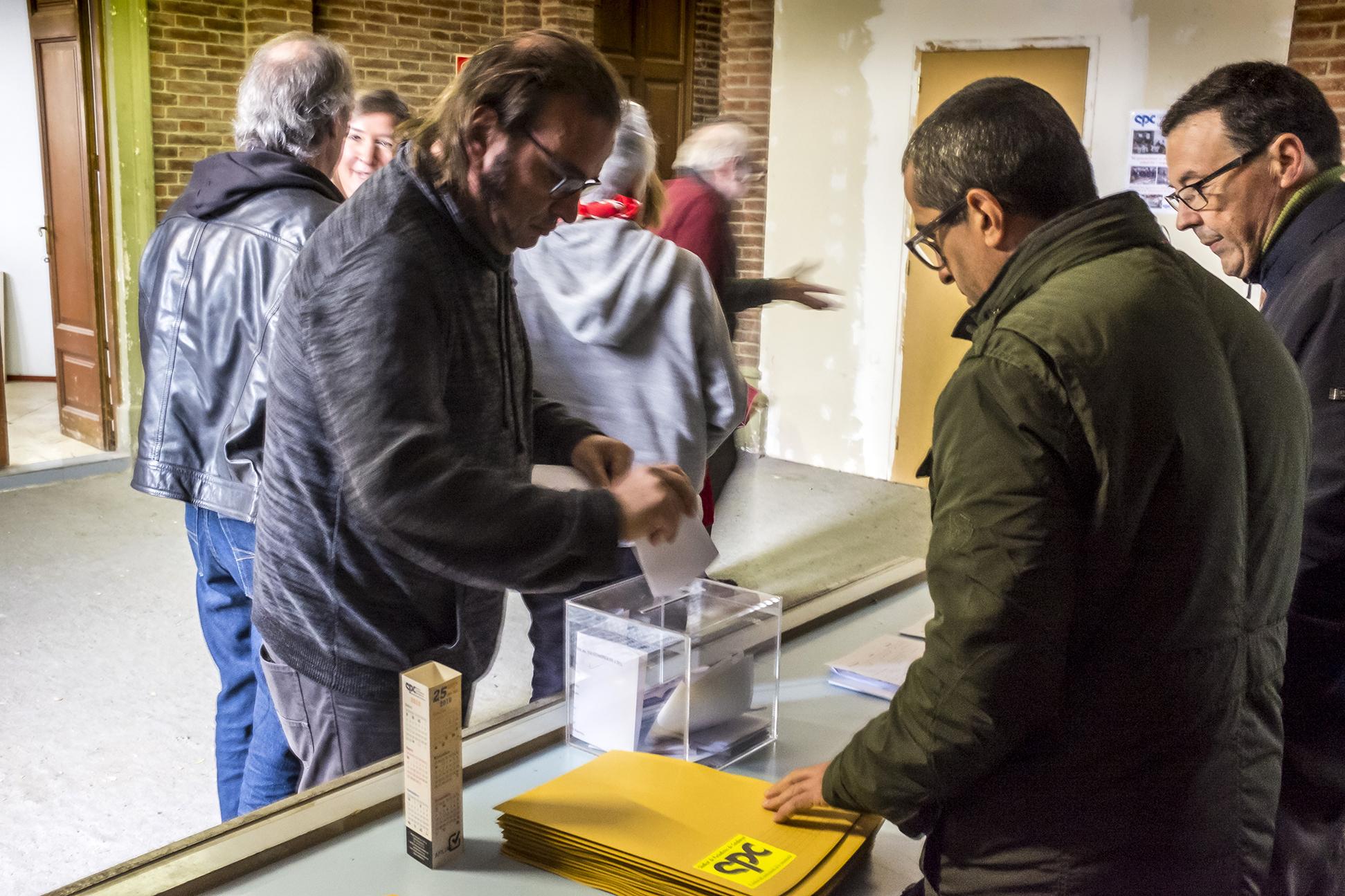 VIII Congrés SPC 2018 - Votacions - Foto: Joan Puig - Sindicat de Periodistes de Catalunya - Sindicat de Professionals de la Comunicació
