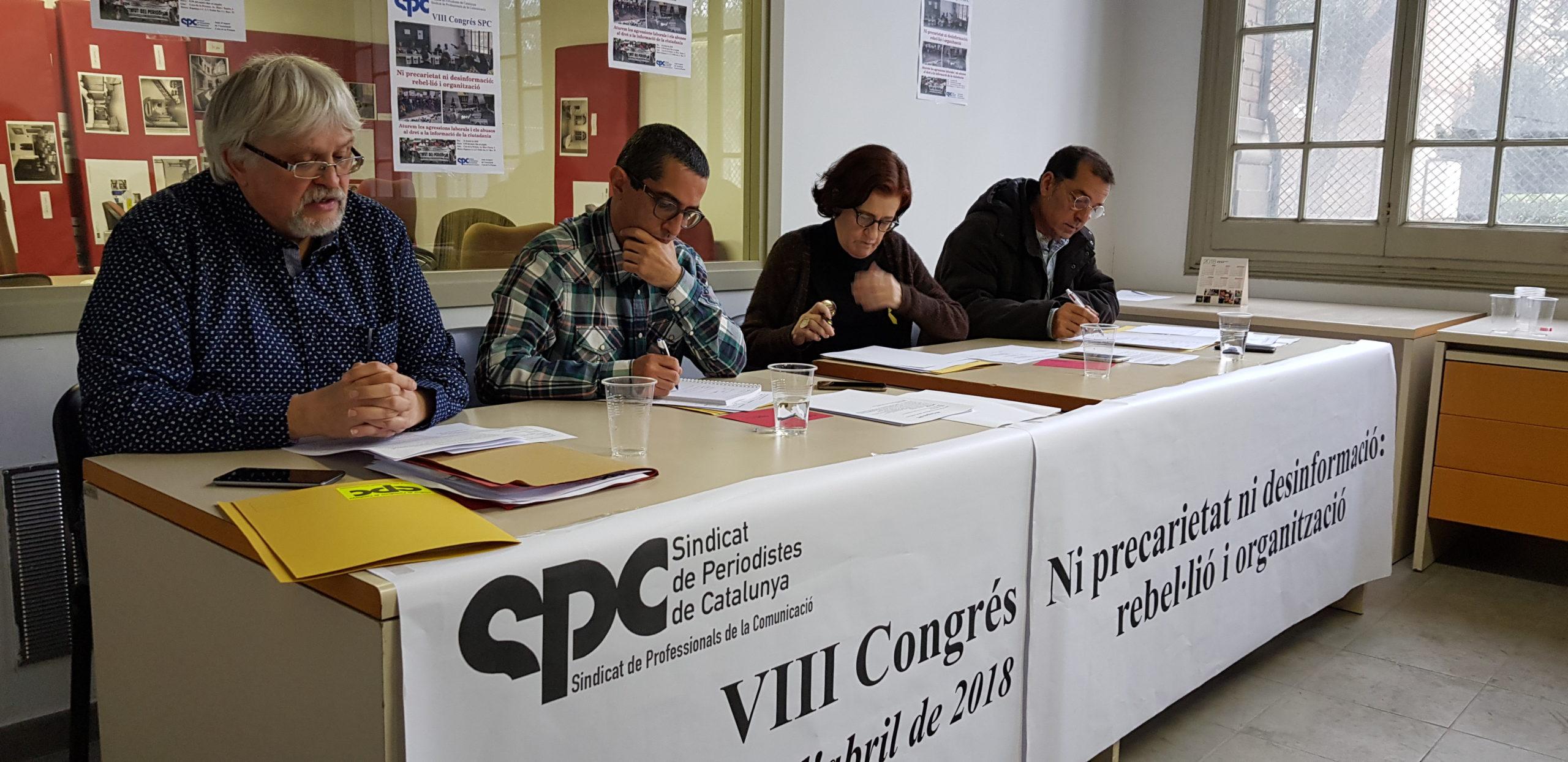 VIII Congrés SPC 2018 - Estrada - Sindicat de Periodistes de Catalunya - Sindicat de Professionals de la Comunicació