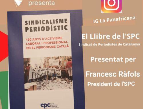 Presentació del llibre 'Sindicalisme Periodístic' a la llibreria La Panafricana, de Barcelona